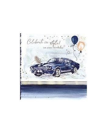 Good Fellow Classic Car Birthday Card