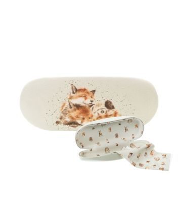 Wrendale Foxes Afternoon Nap Glasses Case
