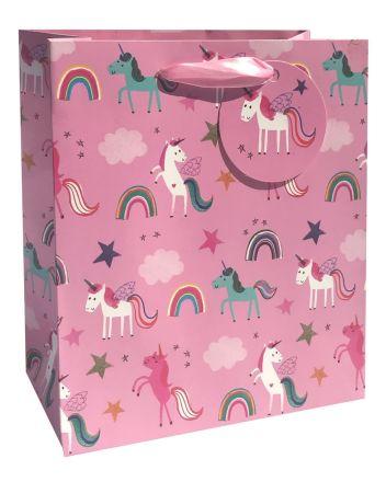 Glick Pink Unicorns Medium Gift Bag
