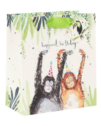 Glick Birthday Chimps Medium Gift Bag