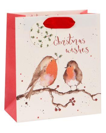 Glick Robins Christmas Wishes Medium Gift Bag