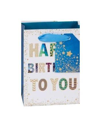 Glick Mens Happy Birthday Medium Gift Bag