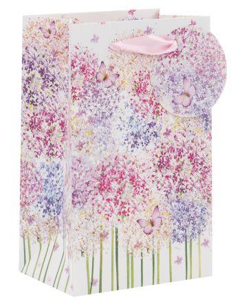 Glitter Flowers and Butterflies Perfume Gift Bag