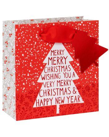 Glick Very Merry Christmas Tree Small Gift Bag