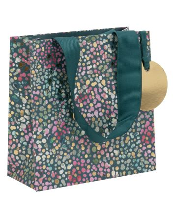 Glick Floral Teal Small Gift Bag