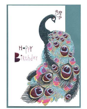 Cinnamon Aitch Gypsy Peacock Anniversary Card