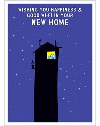 Harold's Planet Good Wi-Fi New Home Card