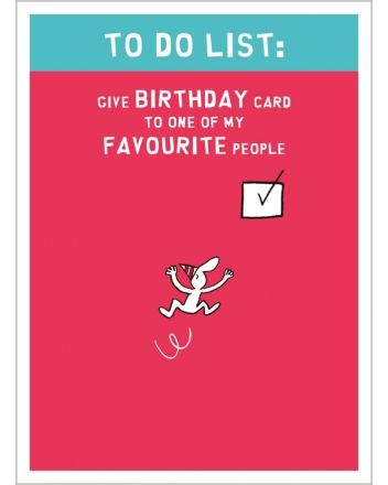 Harold's Planet To Do List Birthday Card