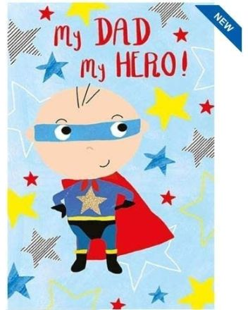 Nigel Quiney My Hero Dad Fathers Day Card