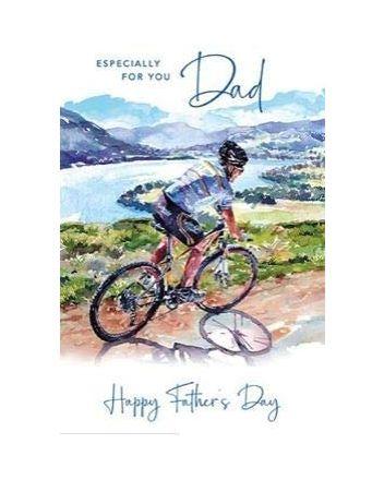 Nigel Quiney Bicycle Coastal Path Fathers Day Card