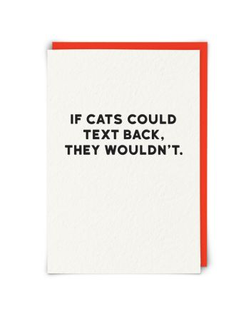 Redback If Cats Could Text Birthday Card