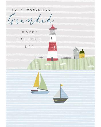 Laura Darrington Lighthouse Wonderful Grandad Fathers Day Card