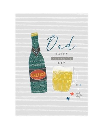 Laura Darrington Cheers Dad Beer Fathers Day Card