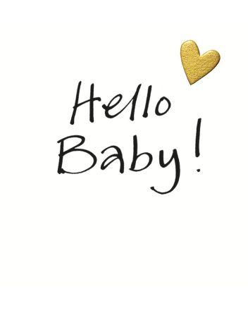 Lucilla Lavender Hello New Baby Card