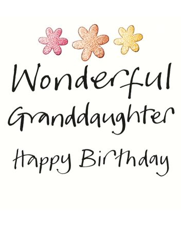 Lucilla Lavender Wonderful Granddaughter Birthday Card