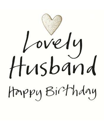 Lucilla Lavender Lovely Husband Birthday Card