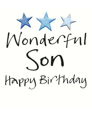 Lucilla Lavender Wonderful Son Birthday Card