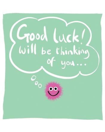 Lucilla Lavender Fluffies Good Luck Card