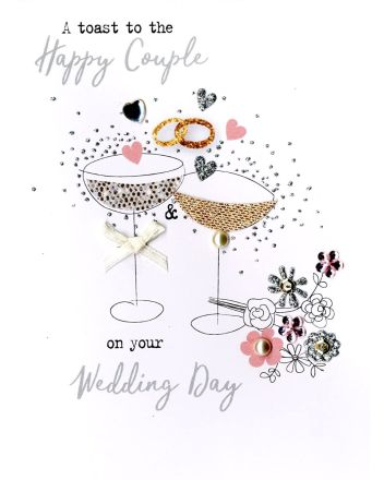 Second Nature Happy Couple Wedding Card