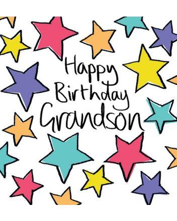Lucilla Lavender Grandson Birthday Card