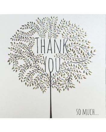 Tracks Blossoming Tree Thank You Card