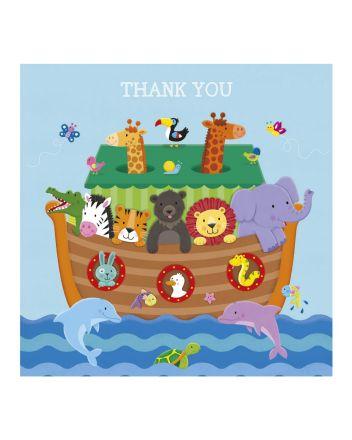 Tracks Noahs Ark Thank You Card
