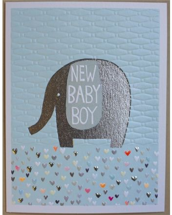 Paper Salad Jamboree New Baby Boy Card