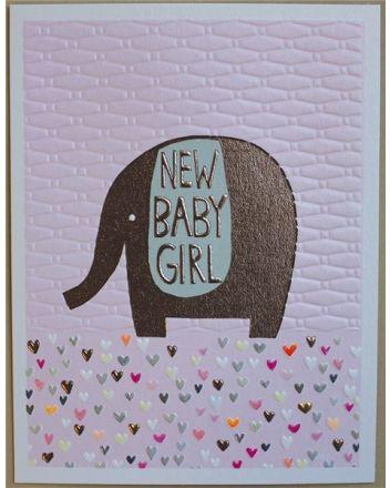 Paper Salad Jamboree New Baby Girl Card