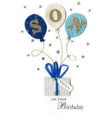Second Nature Champagne Son Happy Birthday Card