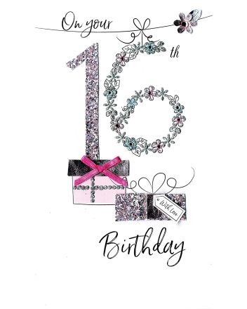 Second Nature On Your 16th Birthday Card