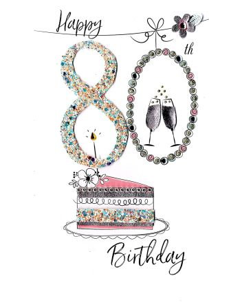 Second Nature Happy 80th Birthday Card