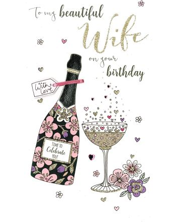 Second Nature Beautiful Wife Birthday Card