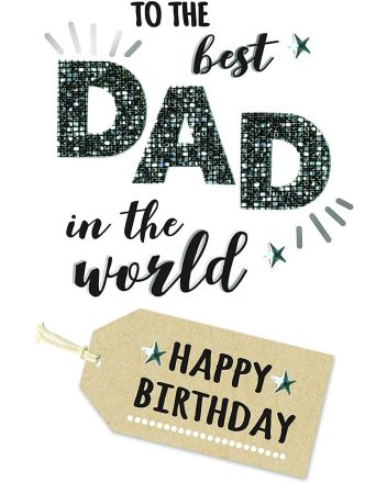Second Nature Champagne Best Dad Birthday Card
