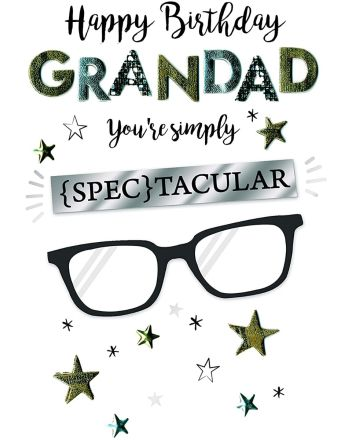 Second Nature Champagne Spectacular Grandad Birthday Card