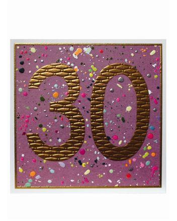Paper Salad Jamboree Happy 30th Birthday Card