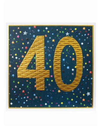Paper Salad Jamboree Happy 40th Birthday Card