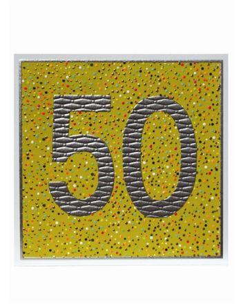 Paper Salad Jamboree Happy 50th Birthday Card