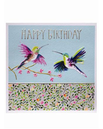 Paper Salad Jamboree Hummingbirds Birthday Card