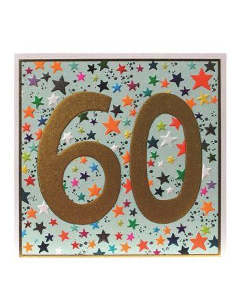 Paper Salad Jamboree Stars 60th Birthday Card