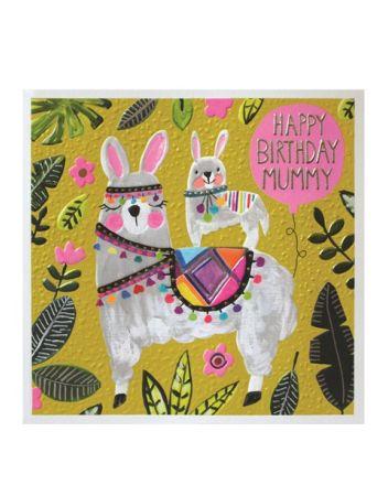 Paper Salad Jamboree Mummy Llama Birthday Card