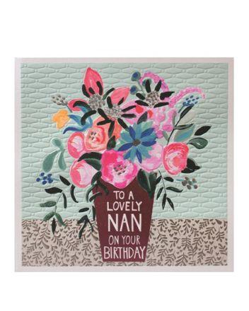 Paper Salad Jamboree Lovely Nan Birthday Card