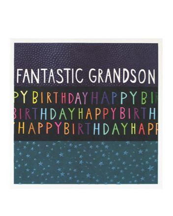 Paper Salad Jamboree Fantastic Grandson Birthday Card