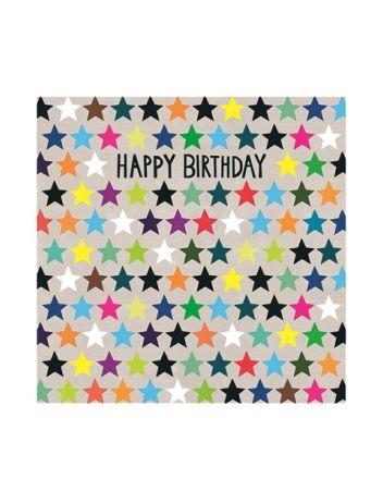 Paper Salad Jamboree Rainbow Stars Birthday Card