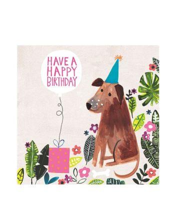 Paper Salad Jamboree Party Dog Birthday Card