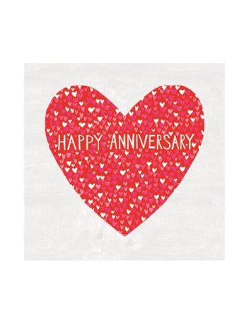 Paper Salad Jamboree Red Heart Anniversary Card