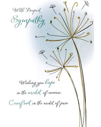 Second Nature Deepest Sympathy Card