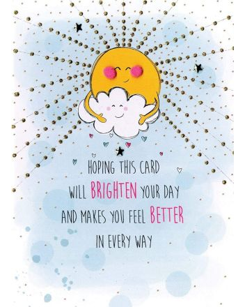 Second Nature Smiling Sun Get Well Soon Card