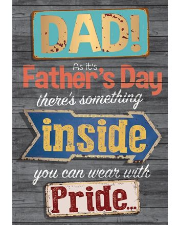 Words n Wishes Dad Cut Out Badge Fathers Day Card