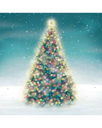 Xmas Tree Luxury Boxed Christmas Cards