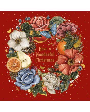 Luxury Xmas Wreath Boxed Christmas Cards